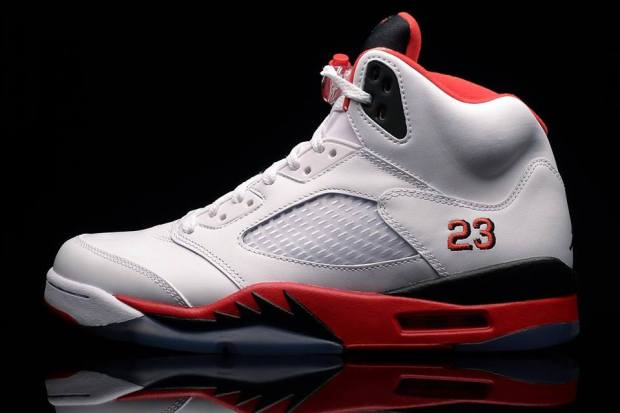 cheaper b450c a70c2 Shelflife Online Store at it again presenting the Nike Air Jordan 5 V Fire  Red – Black Tongue. Originally introduced in 1990, which makes this year  it s ...